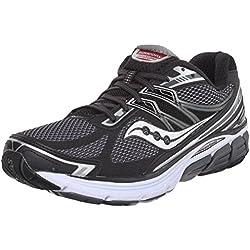 Saucony Men's Omni 14 Road Running Shoe, Black/Grey, 13 M US