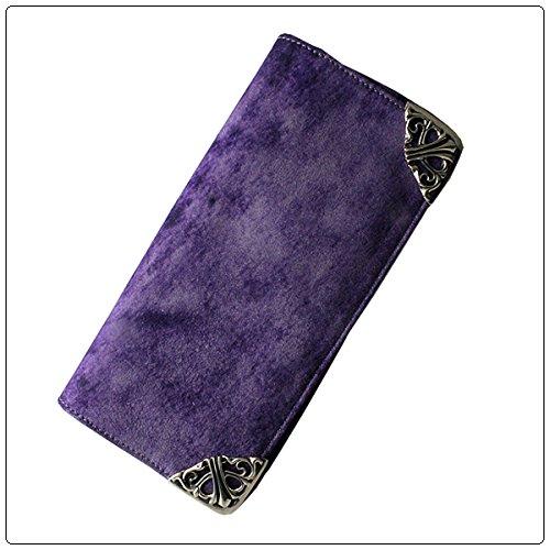 クロムハーツ 財布(Chrome Hearts)ロング・シングルフォールド チップス 3ビル・ダークパープル・ヴィンテージレザー(ノベルティレザー)(メンズ)(クロム・ハーツ)(長財布)