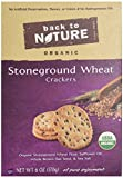 Back To Nature Organic Wheat Crackers, Stoneground, 6 Ounce