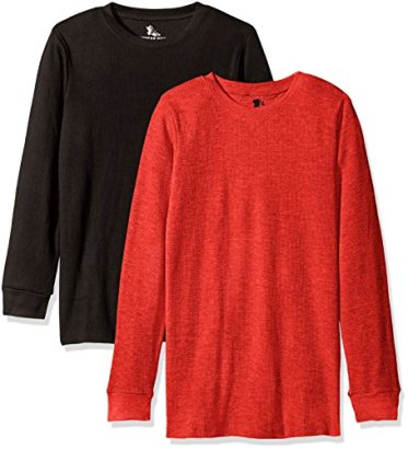 American-Hawk-Big-Boys-2-Pack-Long-Sleeve-Thermal-Tops-BlackRed-1012