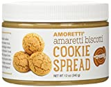Amoretti Natural Creamy Amaretti Biscotti Cookie Butter Spread, 12 Ounce