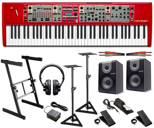 Nord Stage 2 76-Key Stage Piano STUDIO BUNDLE w/ Monitor Speakers
