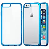 iPhone 6 Case, LUVVITT® CLEARVIEW iPhone Air Case / 4.7 inch Screen | Scratch-Resistant Transparent Slim Back Cover with Bumper | Clear View (Does NOT fit iPhone 5 5S 5C 4 4s or iPhone 6L 5.5 inch screen) - Clear / Transparent Blue