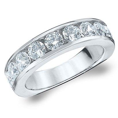14K-Gold-220-cttw-Round-Diamond-Wedding-Band-Anniversary-Ring-Size-8