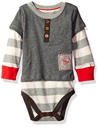 Burts-Bees-Baby-Boys-Organic-Henley-2-Fer-Bodysuit