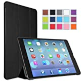 MoKo Apple iPad Air Case - Ultra Slim Lightweight Smart-shell Stand Case for Apple iPad 5 Air(5th Gen) Tablet, BLACK (With Smart Cover Auto Wake / Sleep)
