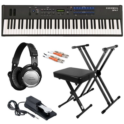 Kurzweil SP4-7 Stage Piano ESSENTIAL BUNDLE w/ Stand, Bench & Cables