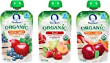 Gerber Organic 2nd Food Pouches, Fruit and Veggie Variety Pack 1, 3.5oz, 18 count