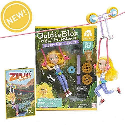 Goldie Blox Action Figure with Zipline