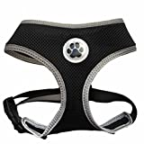 Small Black Cute Soft Mesh Dog Puppy Harness Pet Cat Harnesses,Small Size