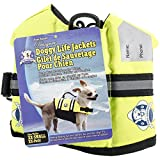 Paws Aboard Double XX-Small Designer Doggy Life Jacket, Neon Yellow