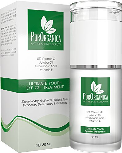 517JkLQ%2B0YL - BEST BUY #1 PurOrganica EYE CREAM for Wrinkles, Eye Bags, Dark Circles, Puffiness and Crow's Feet - DOUBLE SIZED 30ML - Organic Anti Ageing Cream with Vitamin C, Hyaluronic Acid, Jojoba Oil and Vitamin E - Best Natural Treatment for Women and Men - 100% Satisfaction or Your Money Back Guarantee  pure organica