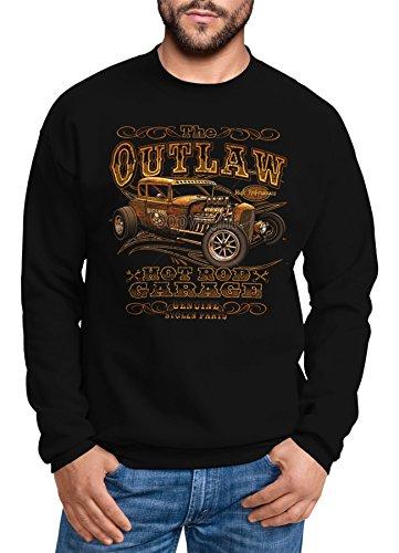 Sweatshirt Herren Hot Rod Outlaw Retro Garage Rundhals-Pullover Moonworks®