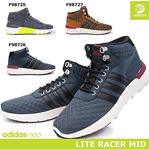 (アディダス) adidas メンズスニーカー ライトレーサー MID ミッドカット ハイカット NEO Label オーソライト カモ柄 キルティング ニット LITE RACER MID 26.0cm F98726