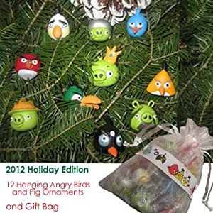 Angry Birds & Pigs Holiday Edition Ornament Set