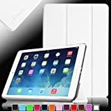 Fintie SmartShell Case for Apple iPad Air (iPad 5 5th Generation) Ultra Slim Lightweight Leather Stand (with Smart Cover Auto Wake / Sleep) - White