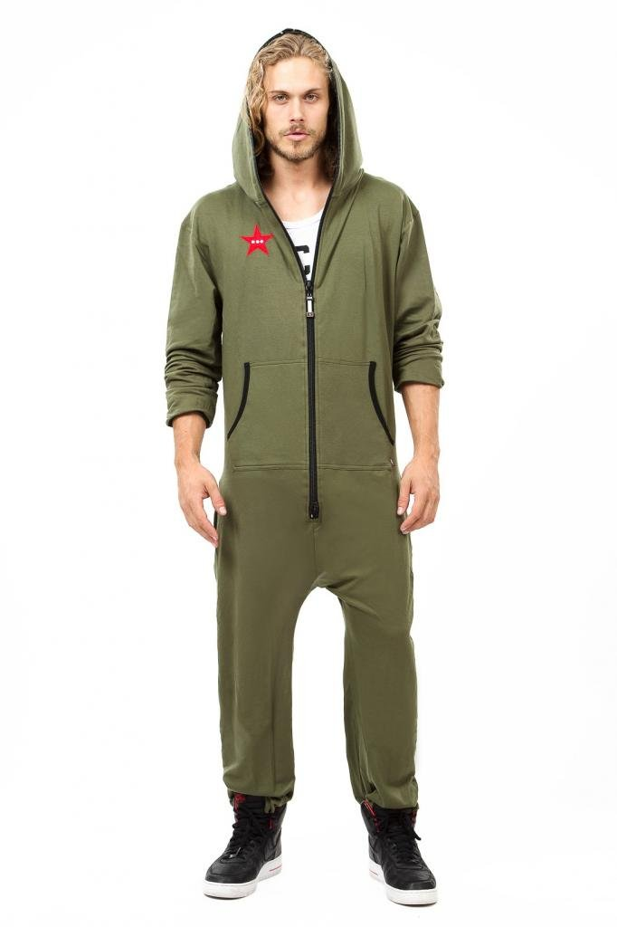 Mens Sweatsuit Onesie with Hoodie