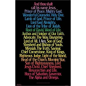 I Am Poster Laminated (Best-Selling Names of Jesus Posters)