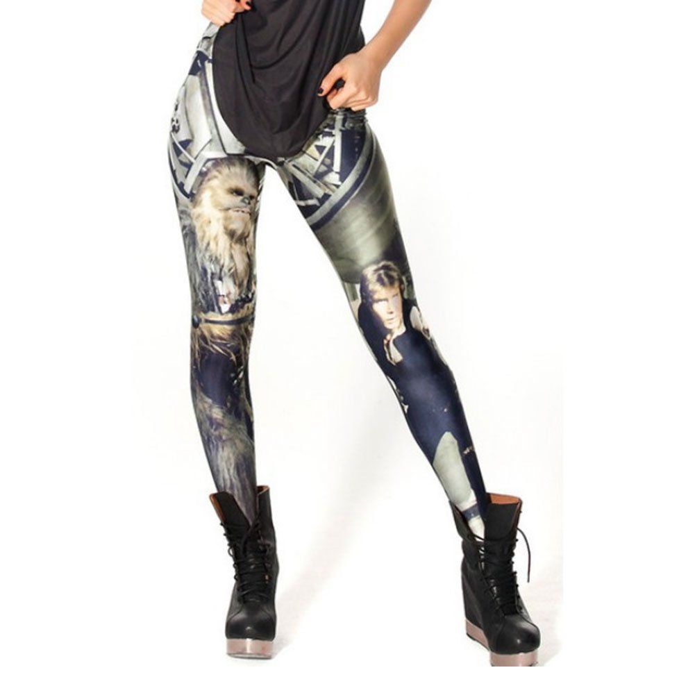 Digital Print Chewie and Han star wars Leggings for Women