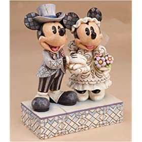 Jim Shore / Disney Traditions - Mickey & Minnie Wedding Figurine / Cake Topper: Congratulations