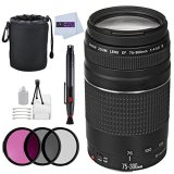 Canon-EF-75-300mm-f4-56-III-Lens-Bundle-for-Canon-EOS-Rebel-T6i-T6s-T6-T5i-T5-T4i-T3i-T3-T2i-SL1-7D-Mark-II-7D-80D-70D-60D-50D-40D-30D-20D-Certified-Refurbished