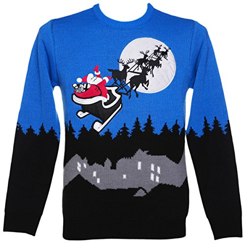 Unisex Retro LED Lightup Sleigh Ride Christmas Jumper from Cheesy Christmas Jumpers