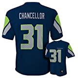 NEW Seattle Seahawks KAM CHANCELLOR #31 Navy Blue Youth Boys NFL Football Jersey Size L 14-16 Large LG by NFL [並行輸入品]