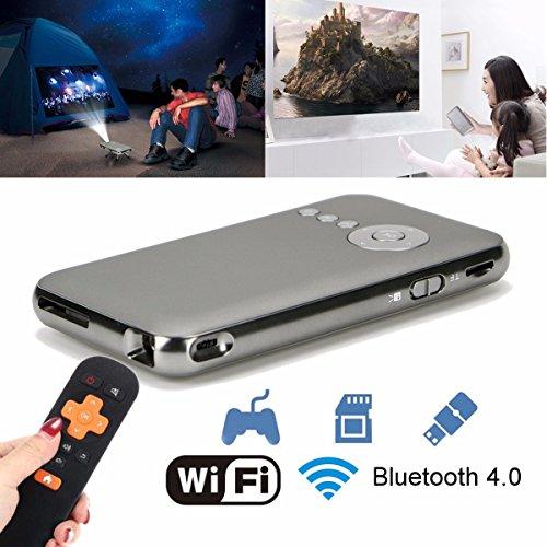 ELEGIANT Bluetooth 4.0 WiFi DLP Proiettore Tascabile HD