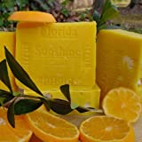 Artisan Soap Florida Ctrus Sunshine with Tangarines and Persian Lime.