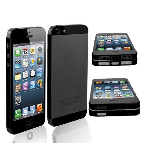 uxcell デコレーションシール エッジラップデカール ブラック  iPhone 5 5G ビニール