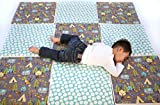 """CorkiMat - Premium Handmade, Eco-friendly, Nontoxic, Certified Organic Cotton Babies/Toddlers/Kids Play Mat Mint Forest (4 tiles-appx. 38""""x38"""")"""