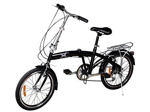 Tms 20 Black Folding Bike 6 Speed Bike Fold Bicycle Storage