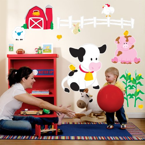 Farm Birthday Party Barnyard Giant Wall Decals