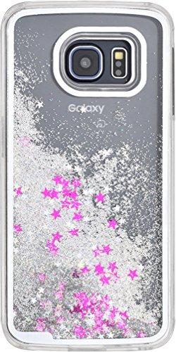 PLATA Galaxy S6 edge ( SC-04G / SCV31 )用 星空 ケース 【 シルバー 】 ※ スマホリムーバー セット DSC04G-75SV