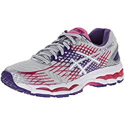 ASICS Women's Gel-Nimbus 17 Running Shoe,Lightning/White/Hot Pink,8.5 M US