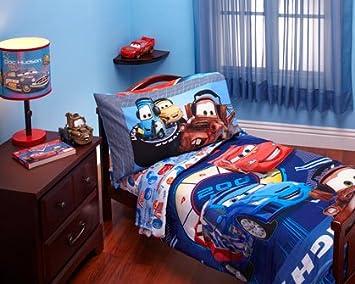 Disney - Cars Max Rev 4-piece Toddler Bed Bedding Set