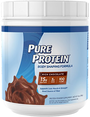 Pure Protein Body Shaping Formula Protein Powder, Rich Chocolate, 14 Ounce