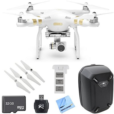 DJI-Phantom-3-4K-Quadcopter-Drone-w-4K-Camera-Deluxe-Bundle-includes-Phantom-3-4K-Battery-Hardshell-Backpack-Propellers-32GB-MicroSD-Memory-Card-USB-Card-Reader-and-Beach-Camera-Cloth