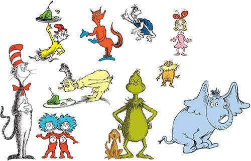Dr Seuss Wall Decals Cat in the Hat