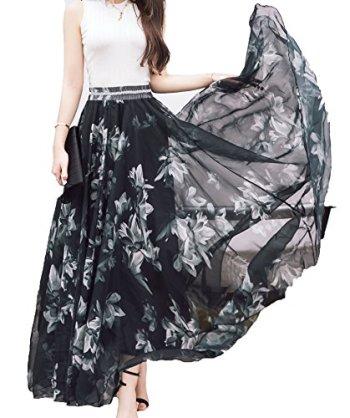 Afibi-Women-Fullankle-Length-Blending-Maxi-Chiffon-Long-Skirt-Beach-Skirt