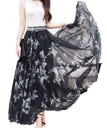 Afibi-Women-Fullankle-Length-Blending-Maxi-Chiffon-Long-Skirt-Beach-Skirt-Large-Design-A