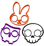JL Future Silicone Egg Mold Ring 3 pcs/set Owl & Skull & Bunny