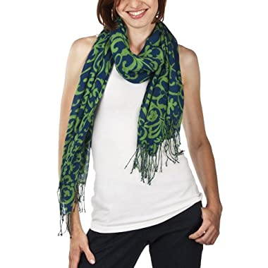 Product Image Women's Merona® Scroll Scarf - Blue
