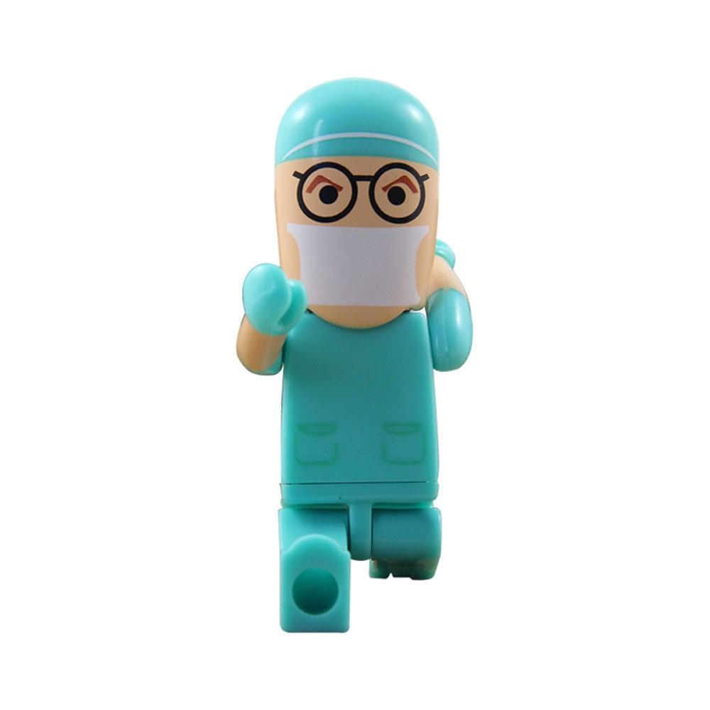Ebiamy ® real capacity 8GB 8G novelty blue doctor shape USB Flash Drive pen drive memory stick pendrive