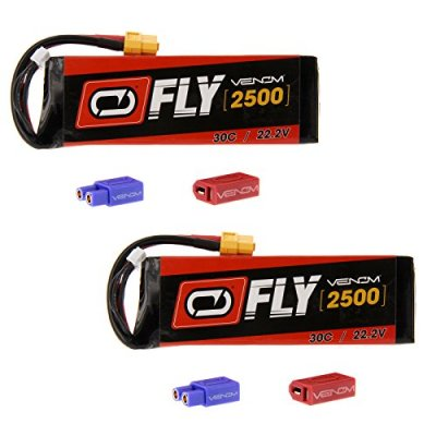 Venom-Fly-30C-6S-2500mAh-222V-LiPo-Battery-with-UNI-20-Plug-XT60DeansEC3-x2-Packs-Compare-to-E-flite-EFLB22006S30