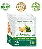 Baby Food Stage 2 ORGANIC - NON GMO & GLUTEN FREE - Potato and Kale Mash Flavor Pouches for 6 Month Happy Healthy Toddlers - Best Natural Dried Fruit & Vegetable Mix with Breast Milk Formula or Water