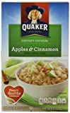 Quaker Instant Oatmeal Apples & Cinnamon, 1.51oz Packets, 10-Count Boxes (Pack of 4)