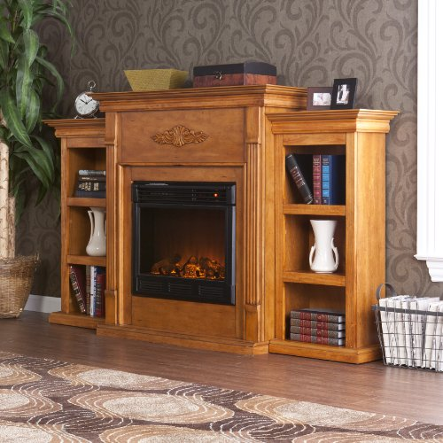 buy low price electric fireplace with cabinet bookcases mantel tv media stand console b008cex4fo. Black Bedroom Furniture Sets. Home Design Ideas