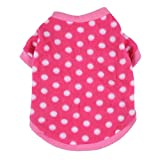 JJ Store Pet Dog Warm Fleece Sweater Puppy Polka Dot Hoodies Coat Clothes Apparel