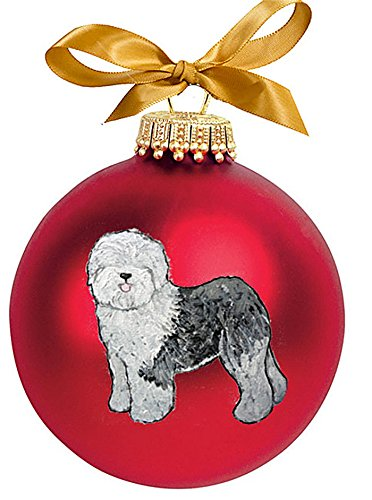Old English Sheepdog Hand Painted Ornament